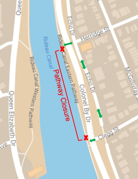 Canal Pathway Closure