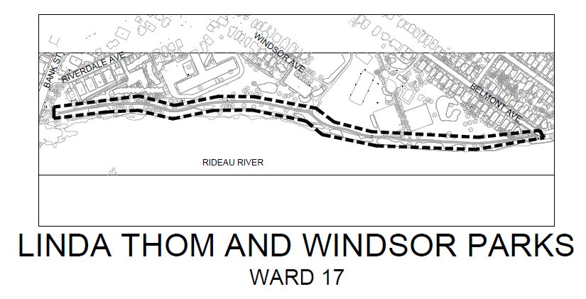 Linda Thom / Windsor Park multi-use pathway along Rideau River.