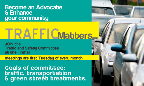 Traffic and safety committee recruitment poster