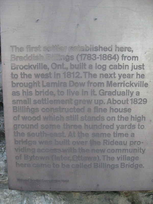 Brief history of Braddish Billings early settlement