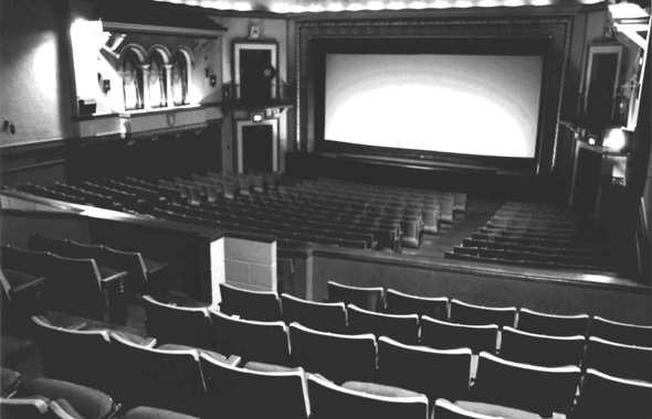 Mayfair Theatre, 1076 Bank St - auditorium interior, from balcony, source unknown