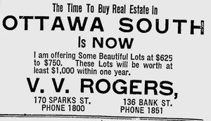 Advertisement 1910-06-25 for Ottawa South