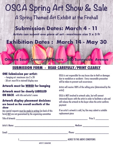 Spring Art Show Submission Form