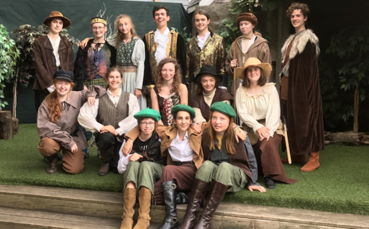 The cast As You Like It.