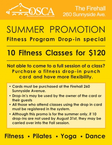 Drop in special: 10 classes for $120