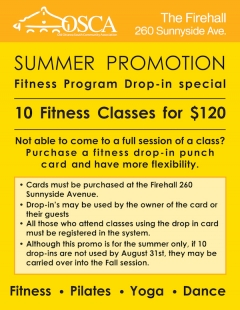 Fitness program drop-in special: 10 classes for $120