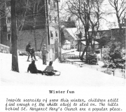From the Archives: Tobogganing Behind St. Margaret Mary's Church
