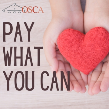 OSCA's Pay What You Can IS NOW LIVE!