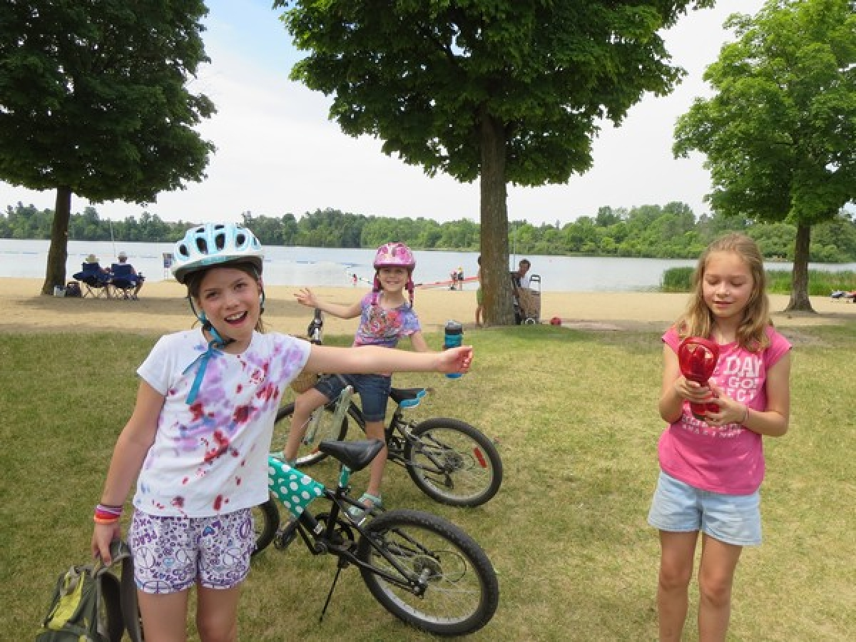 Demonstrating how to have fun while learning about cycling safety