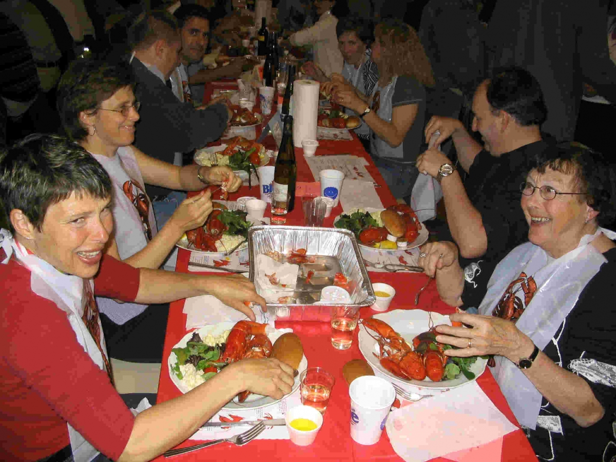 A Firehall fundraiser Lobster Supper in 2004.