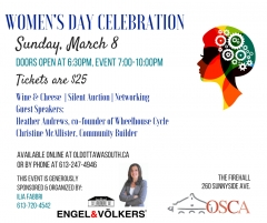 Come join OSCA for a Women's Day celebration on March 8th!