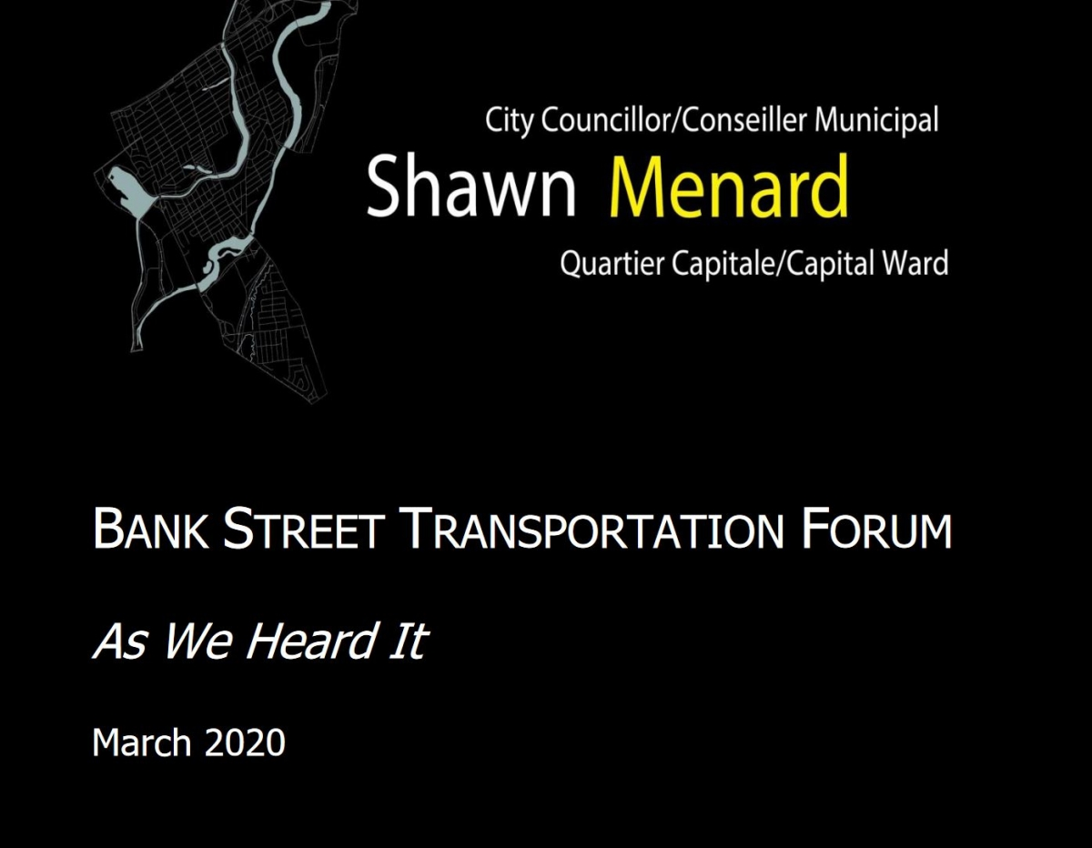 Bank Street Transportation Forum Report