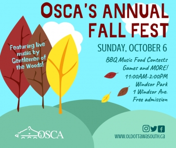 OSCA's Annual Fall Fest is This Sunday, October 6th!