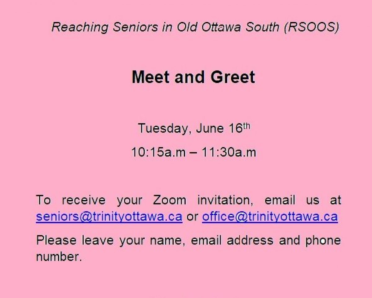 Seniors in Conversation starts Tuesday, June 16th!