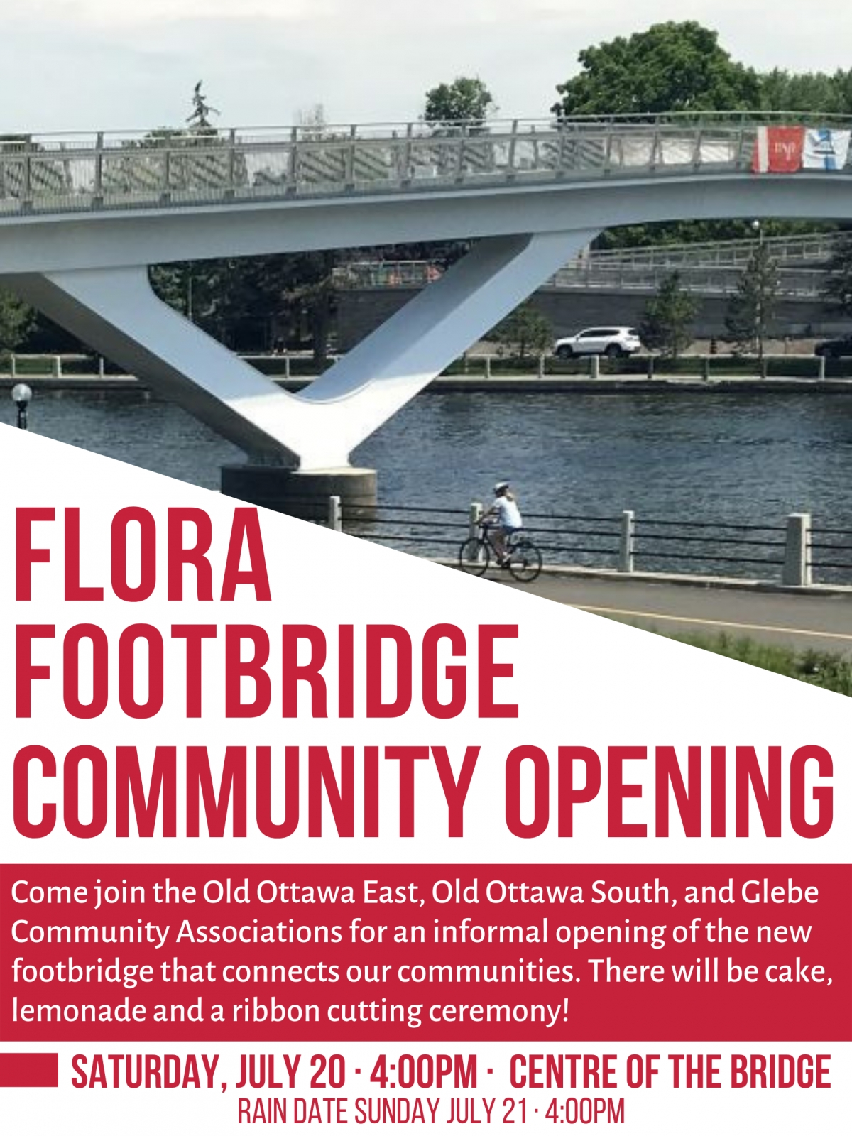Community Opening of the Flora Footbridge