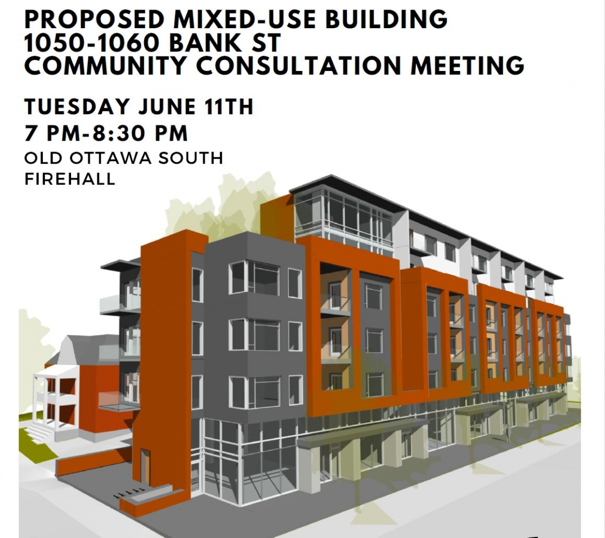 Consultation Meeting about 1050-1060 Bank Street: Tues. June 11, 2019