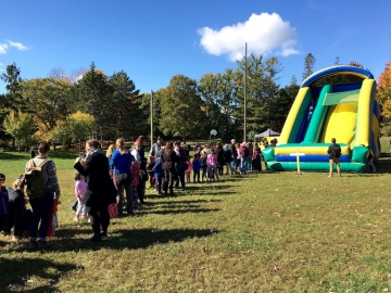 The ever-popular bouncy tent at Fall Fest