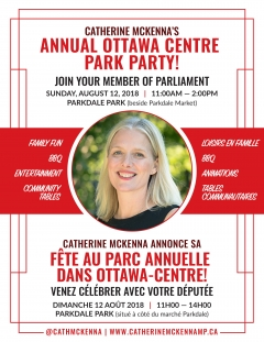 You're Invited: Ottawa Centre Annual Park Party