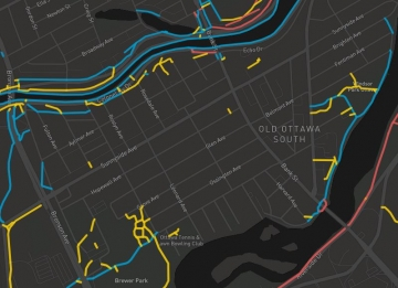 BikeOttawa Winter Cycling Map